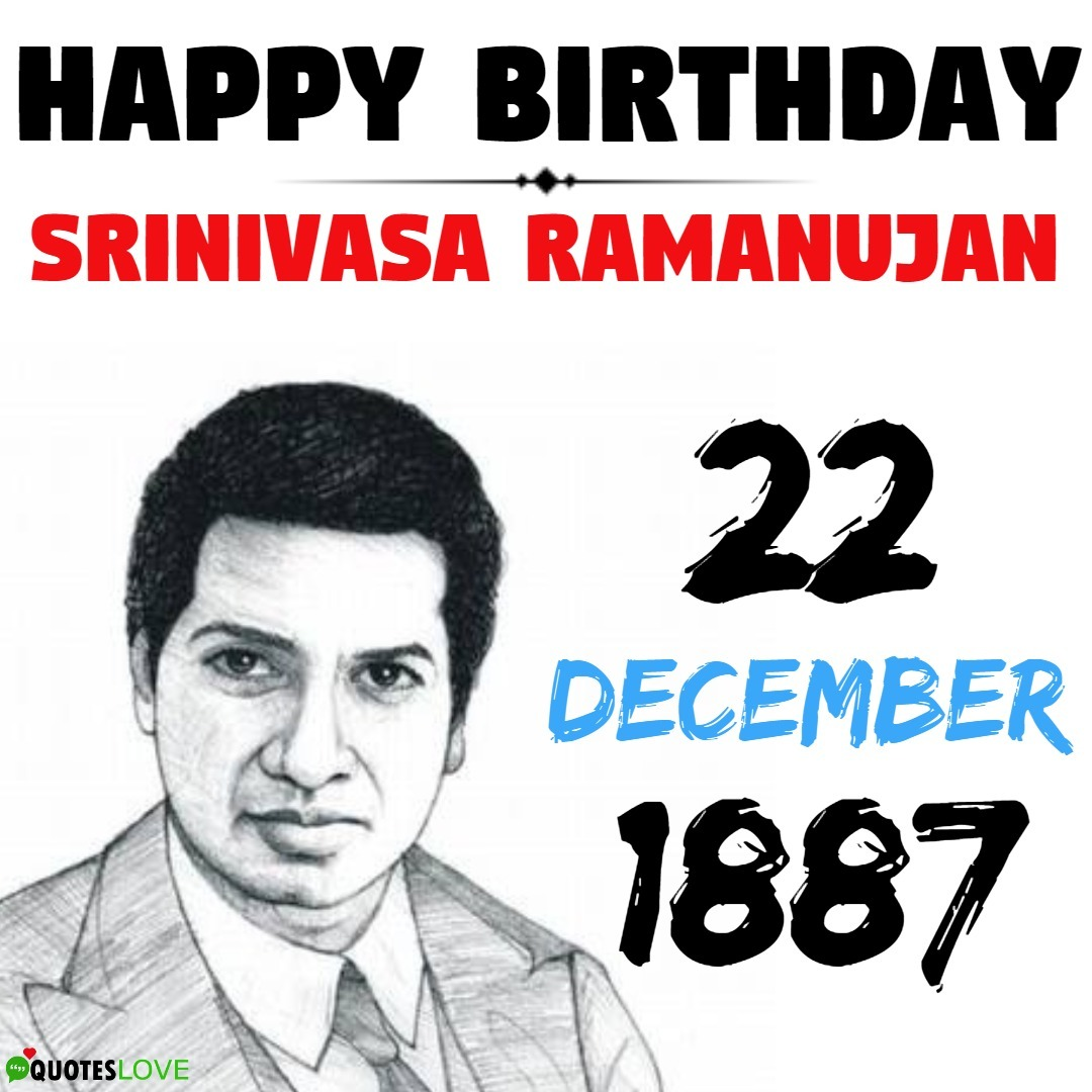Srinivasa Ramanujan Birthday Image - National Mathematics Day
