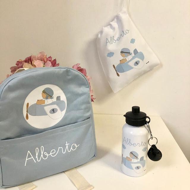 mochila escolar personalizada botella infantil personalizada