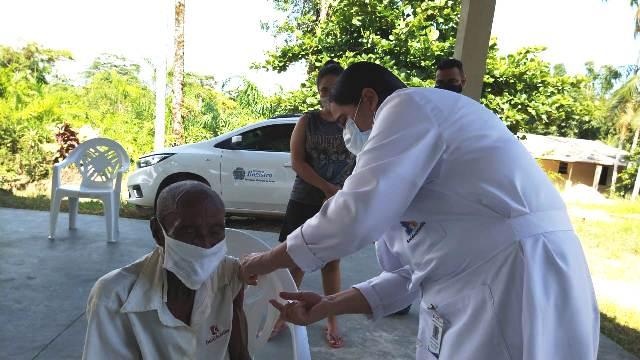 Quilombolas do Bairro Peropava recebem vacinação contra o Coronavirus - Covid-19