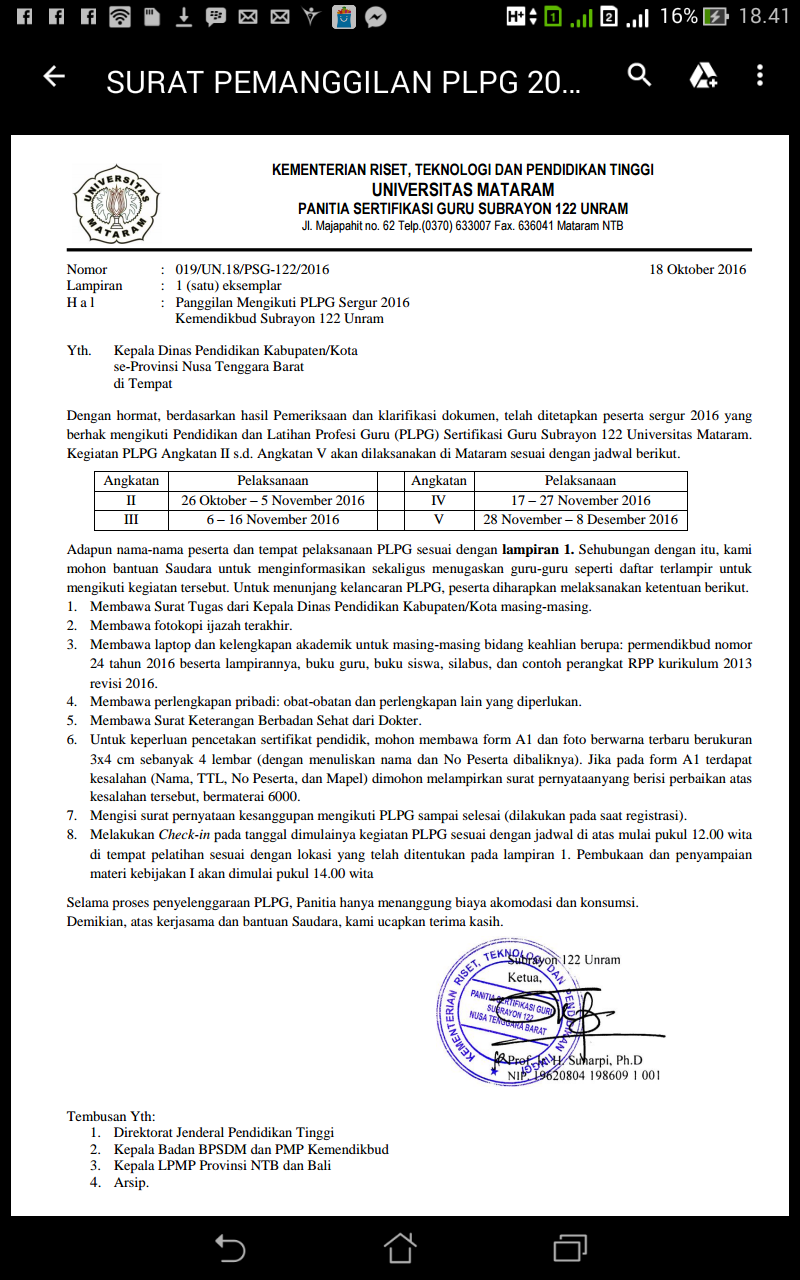 Info Plpg Tahap   Unram