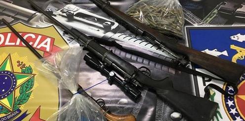 Em Major Izidoro/AL, PF apreende armas e munições de calibre restrito