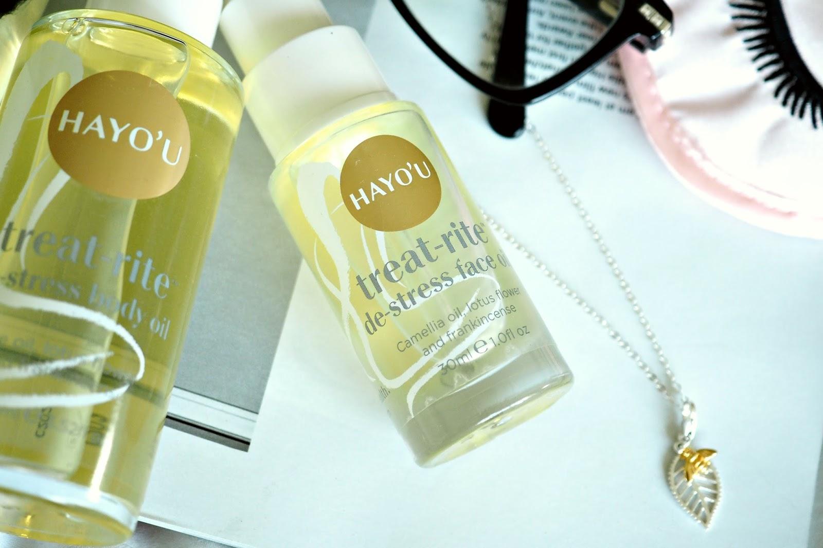 Hayo'u treat-rite de=stress facial oil