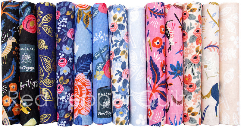 les Fleurs by Rifle Paper Co. for Cotton + Steel | © Red Pepper Quilts 2016