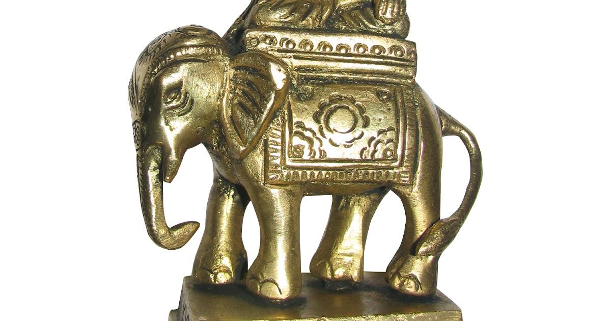 Brass Statue Elephant Mini Idol 29 Grams
