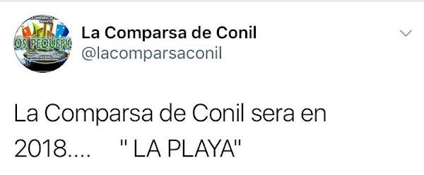 """La comparsa de Conil este carnaval 2017 """"Los Pequeños"""" serán para el 2018, """"La Playa"""""""