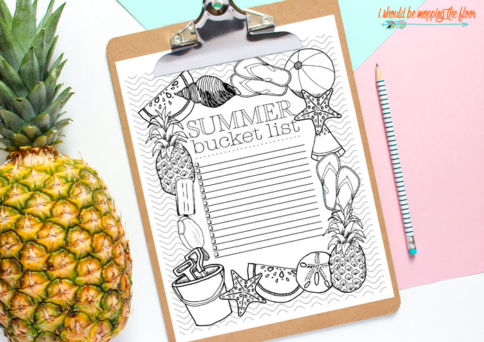 Free Printable Summer Checklist for Kids (and adults!)