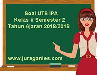 Contoh Soal UTS IPA Kelas 5 Semester 2 Terbaru Tahun Ajaran 2018/2019