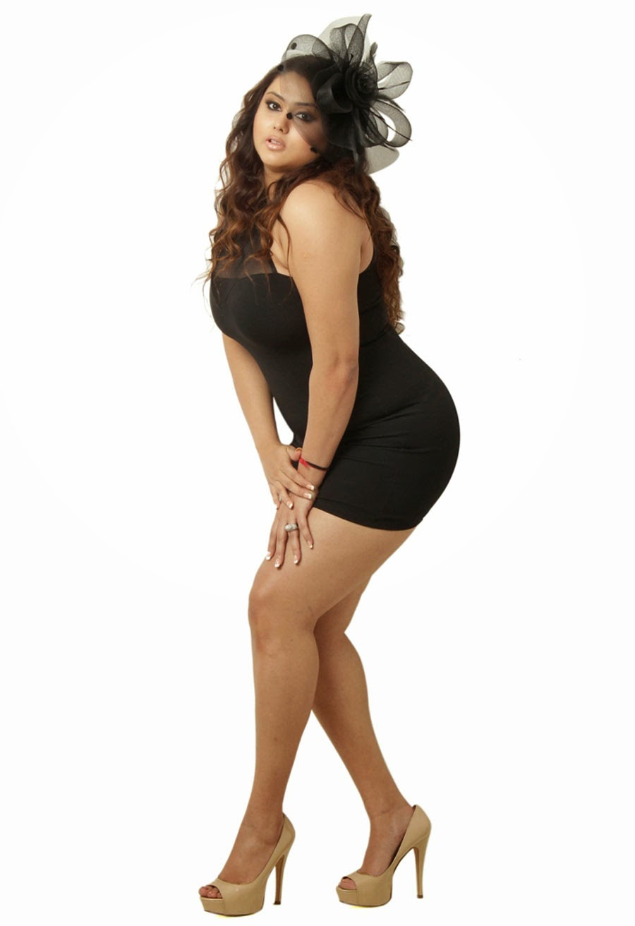 Kollywood Actress Namitha Hot In Black Mini Skirt Photos -7176