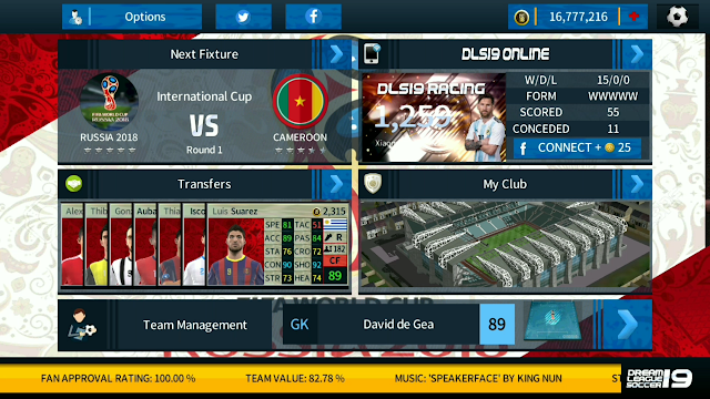DLS 19 Mod World Cup Russia 2018 For Android