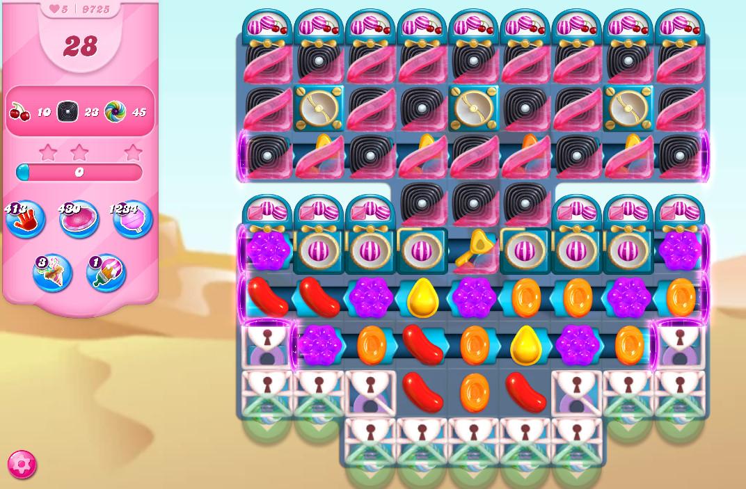 Candy Crush Saga level 9725