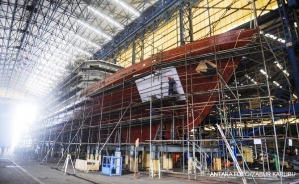 Pembangunan kapal perang di PT PAL