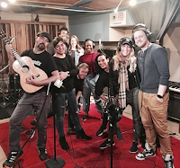 Cast & Ensemble of Waitress on Broadway Threshold Recording Studios NYC