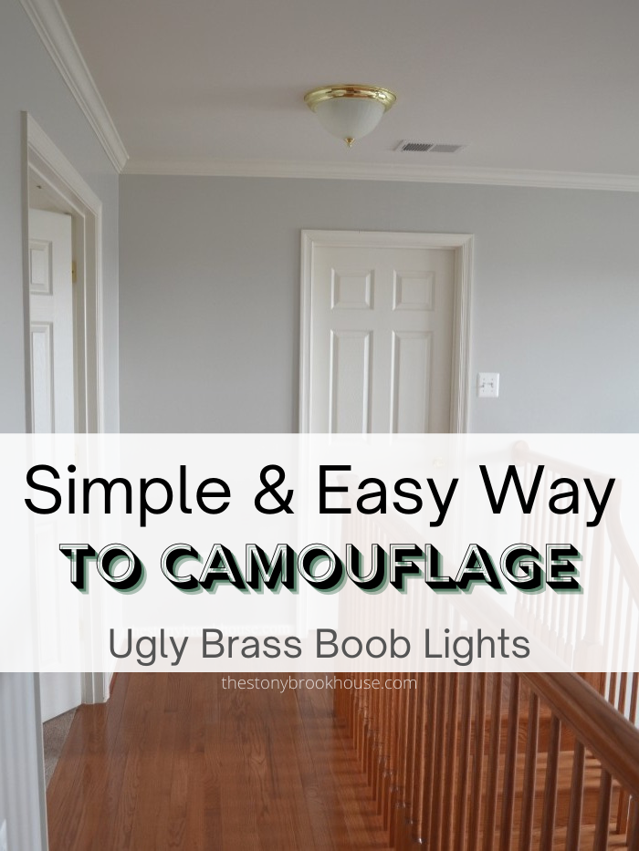 Simple & Easy Way To Camouflage Ugly Brass Boob Lights