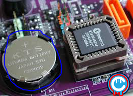 fungsi baterai cmos pada motherboard