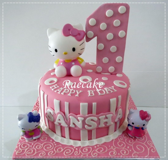 Hello Kitty Cake For Sansha Kue Ulang Tahun Birthday
