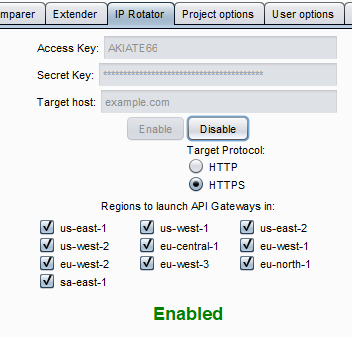 IPRotate - Extension For Burp Suite Which Uses AWS API