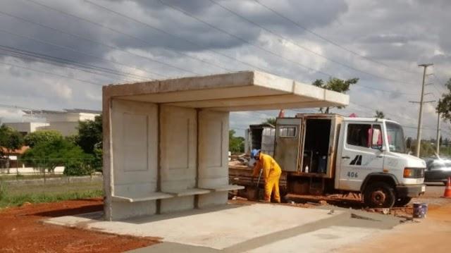 Mais Quatro novos abrigos para passageiros em rodovias distritais