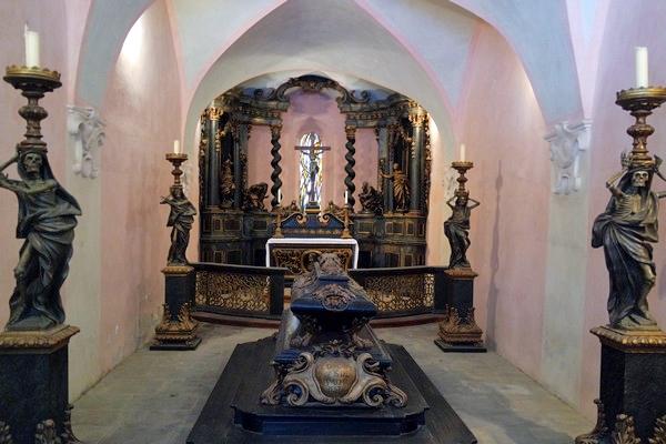 autriche basse-autriche niederösterreich stift abbaye heiligenkreuz wienerwald chapelle funéraire