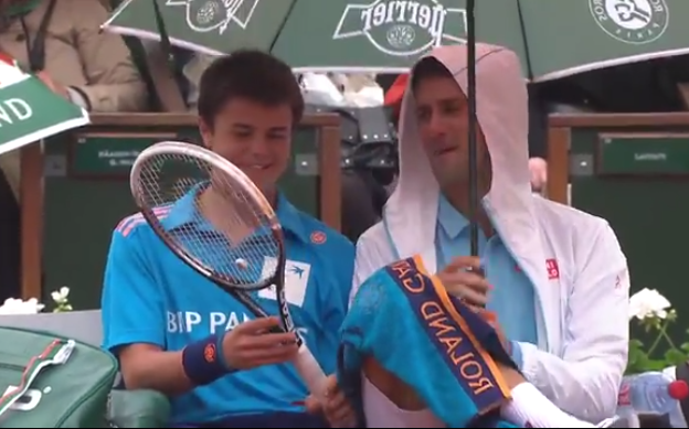 Novak Djokovic Did Some Cool Stuff To This Ball Boy Powcast Sports