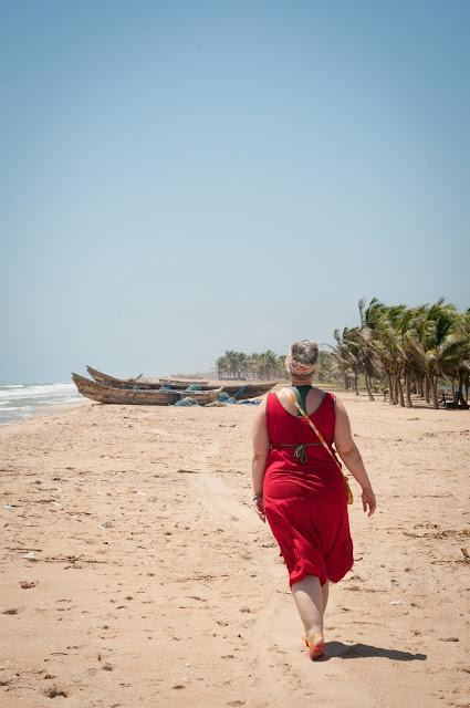 Local beach and boats; Dzita, Ghana