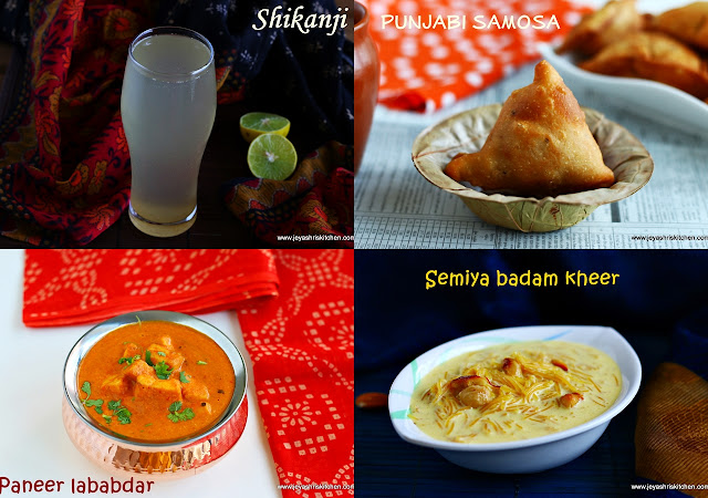Diwali party menu ideas