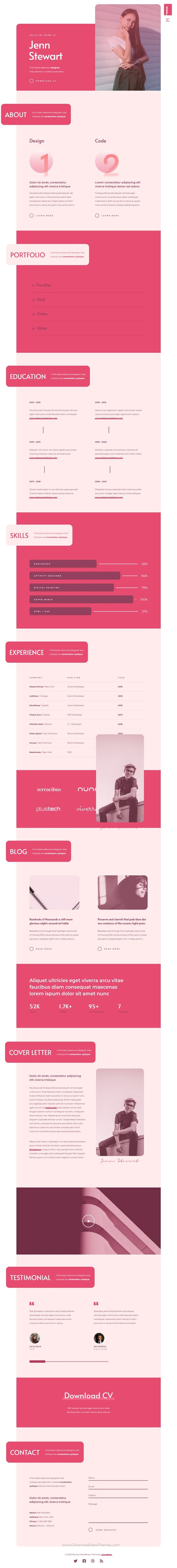 Personal Portfolio WordPress Theme