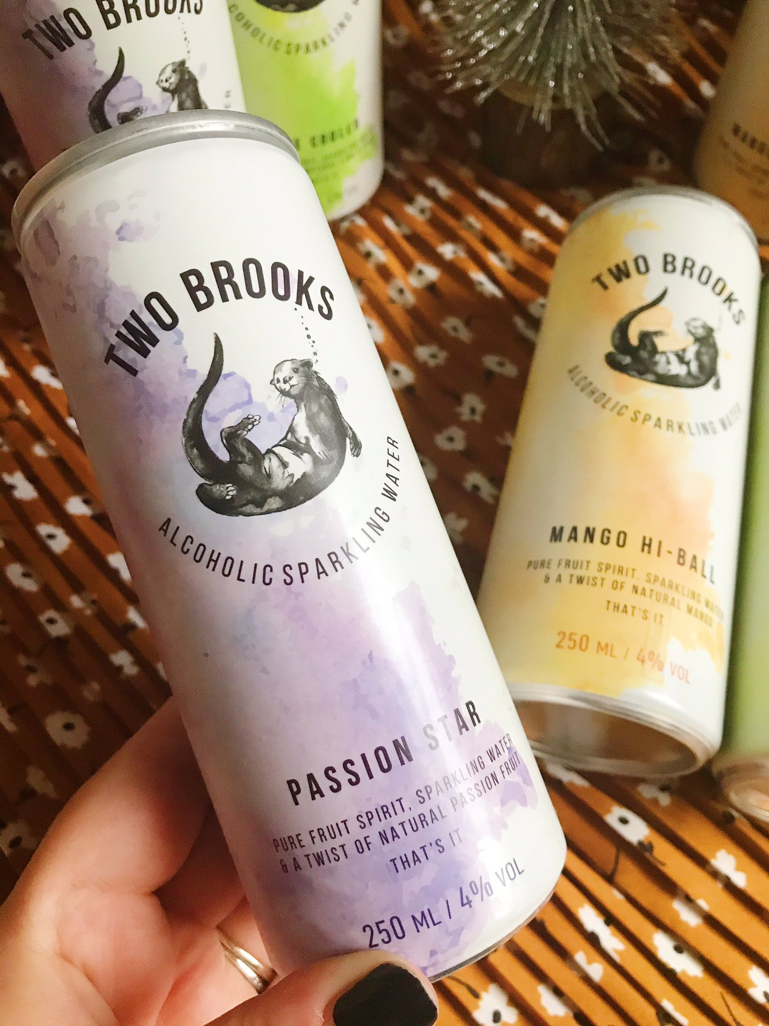Two Brooks passion star drink held up