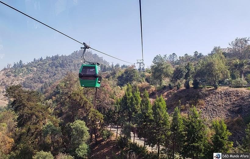 Teleférico no Cerro San Cristóbal - o que fazer em Santiago