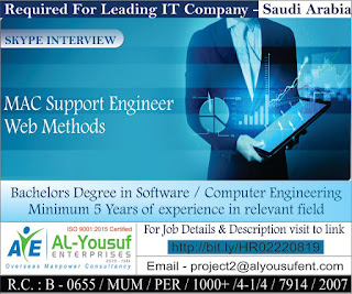 Required for Leading IT Company in Saudi Arabia