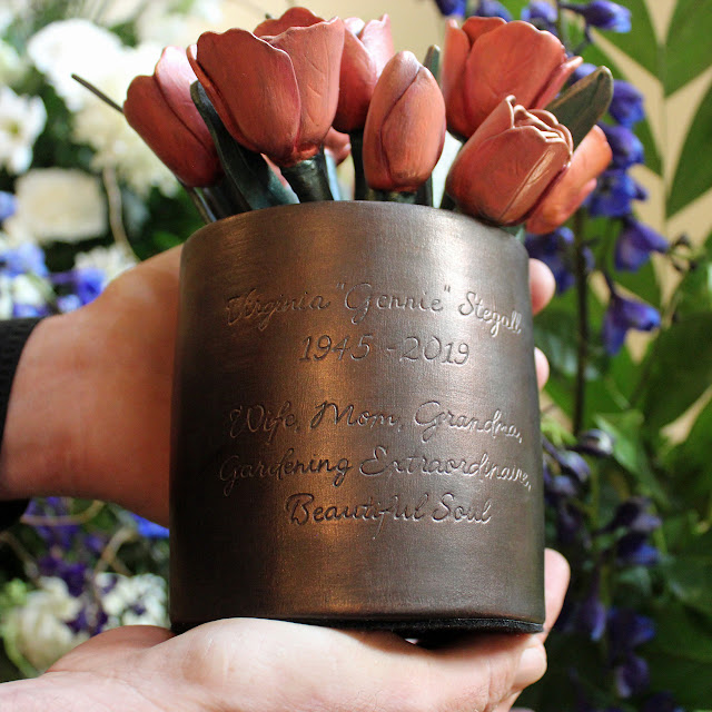 Tulip Bouquet Cremation Urn Memorial