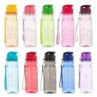MY BOTTLE Tutup Klik Tali Botol Minum Click 500ml BPA Free Souvenir - Merah