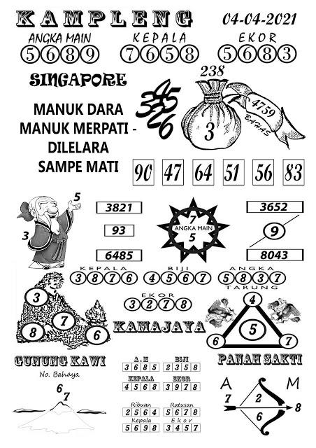 Kampleng SGP Minggu 04 April 2021