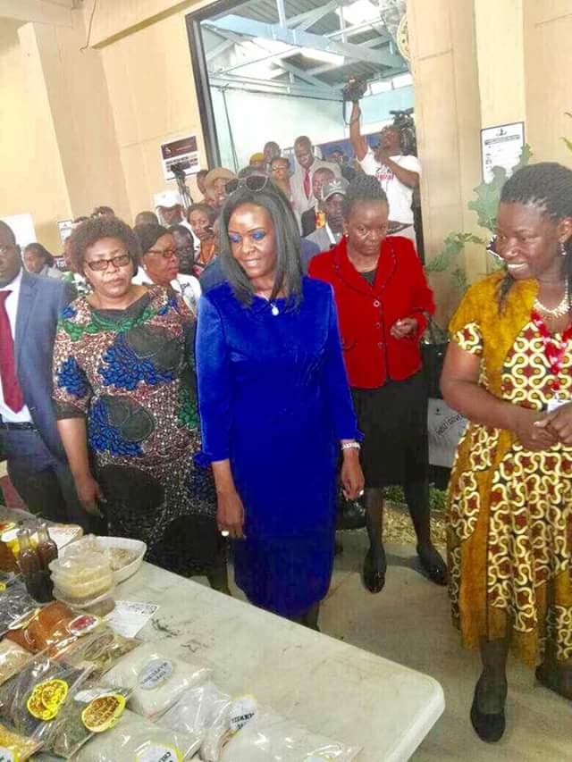 Photos: Grace Mugabe makes first public appearance amidst SA assault claims