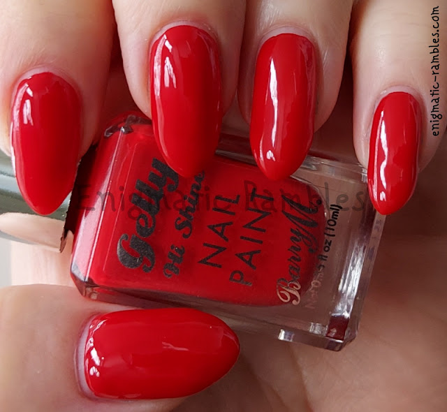 Nail Polish Swatch Barry M Hot Chilli Summer 2021 Gellys