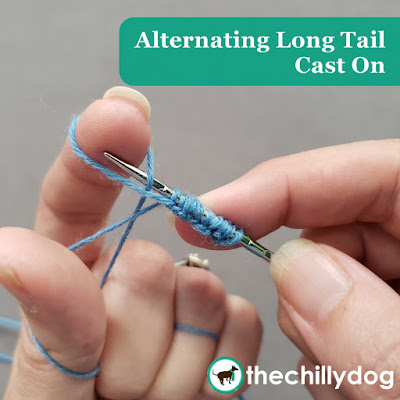 Knitting Tutorial: Alternating long tail cast on for ribbing with knits and purls