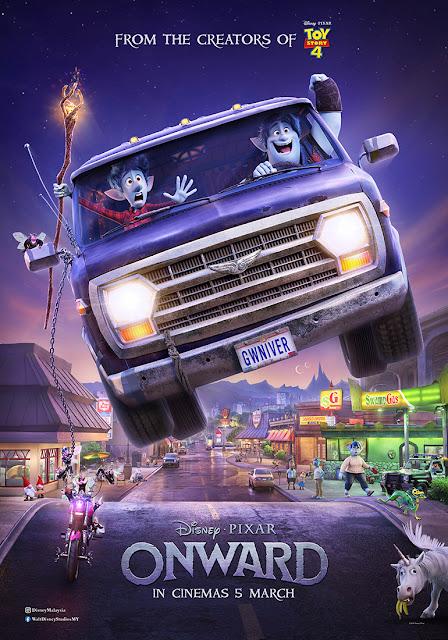 Pixar Onward van jump poster
