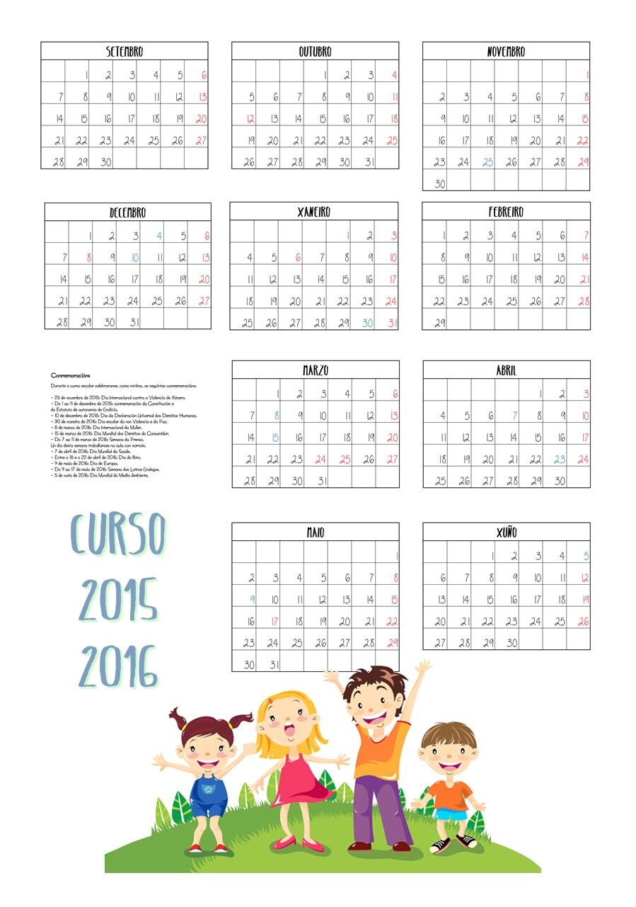 Calendario Laboral Ourense 2020.Calendario Galego