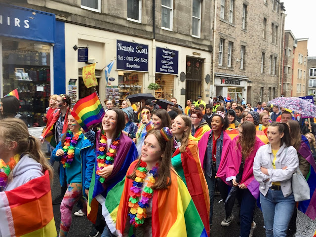 Edinburgh Pride Parade 2018 on Royal Mile