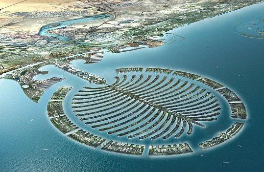 Worlds Incredible: PALM ISLANDS (Dubai): the palm-shaped man-made island