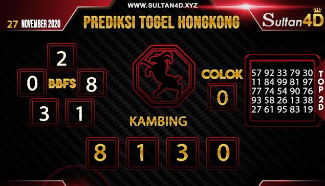 PREDIKSI TOGEL HONGKONG SULTAN4D 27 NOVEMBER 2020