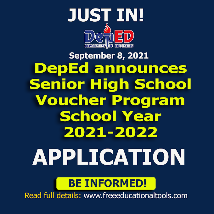 DepEd announces important dates for application for SHS Voucher Program SY 2021-2022