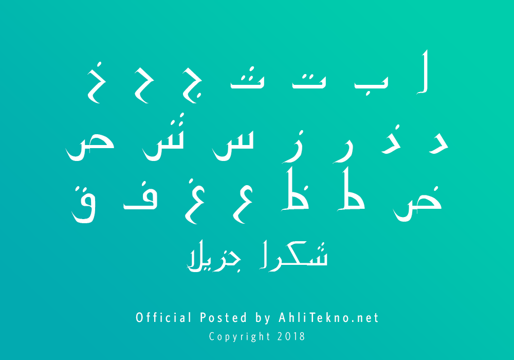 kumpulan font typography arabic keren (PakType Naqsh)