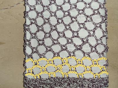 基本のネット編み,ネット編み,basic net crochet, net crochet,钩织基础网格,钩织网格,