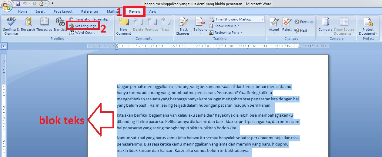 2 Cara Meringkas Dokumen Di Microsoft Word Blogger Toraja