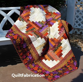 leaf piles-leaf quilt-fall-autumn-orange-lap quilt