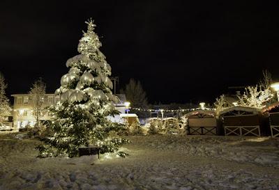 Navidad cerca del puerto de Reykjavik