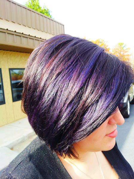 36 interesting purple highlights hair color ideas hairstylo purple highlights 14 pmusecretfo Image collections