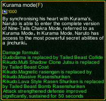 naruto castle defense 6.2 naruto Kurama mode detail