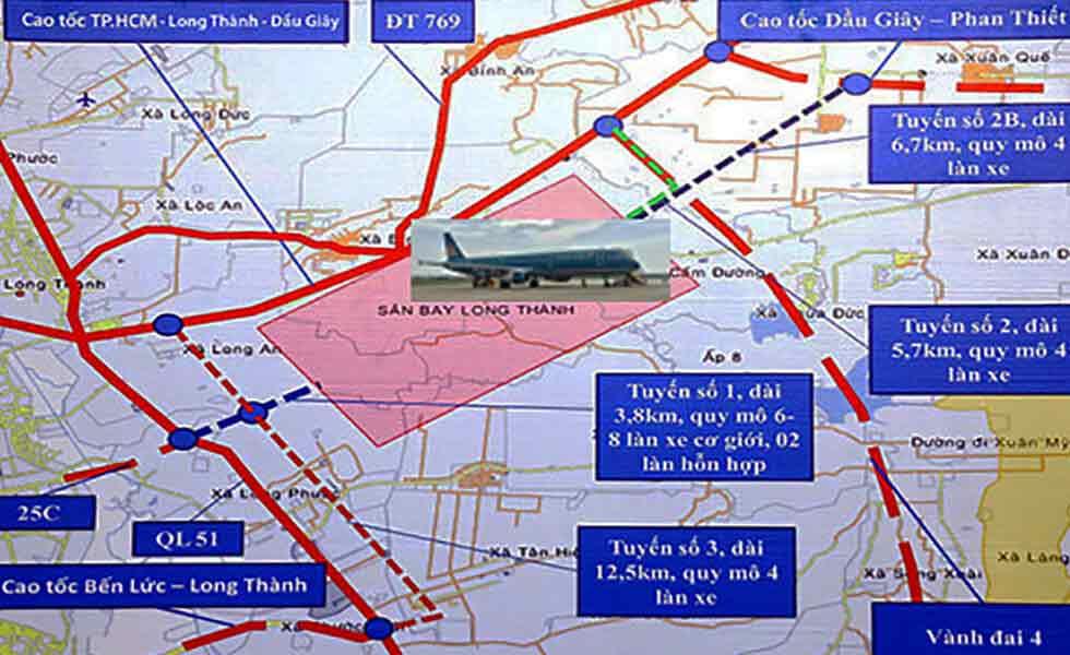 đường sản sân bay Long Thành