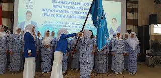 Hj Sofia Pimpin DPC IWAPI Kota Jambi Periode 2019 - 2024.